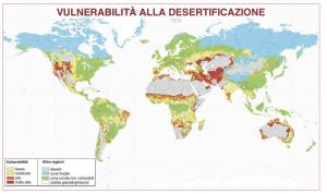Foto 1: mappa della vulnerabilità alla desertificazione nel mondo (fonte: U.S. Department of Agricolture).